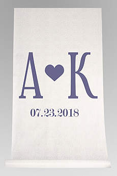 DB Exc Personalized Initials Heart Aisle Runner