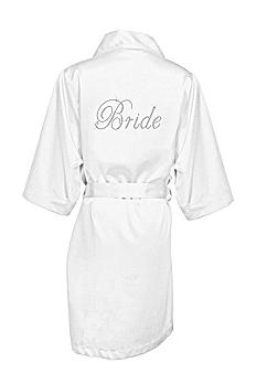 DB Exclusive Double Rhinestone Bride Satin Robe DBBROBE