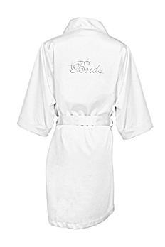 Rhinestone Bride Satin Robe DBBRRB
