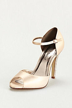 Dyeable Sandal with Crystal Encrusted Heel DBGIULIANA