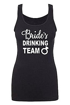 Bride's Drinking Team Fitted Tank Top DBK-BDT