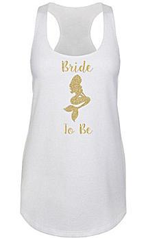 Mermaid Bride Gold Glitter Racerback Tank Top DBK-MER-BR