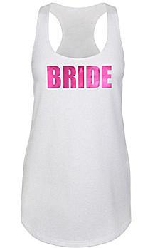 Metallic Print Bride Racerback Tank Top DBK-SQ-BR