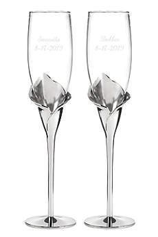Personalized Gleaming Calla Lily Flutes
