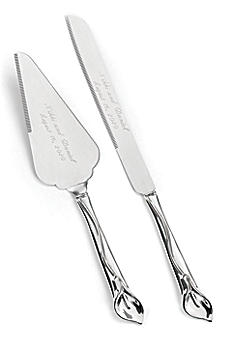 Personalized Gleaming Calla Lily Serving Set DBK11192P