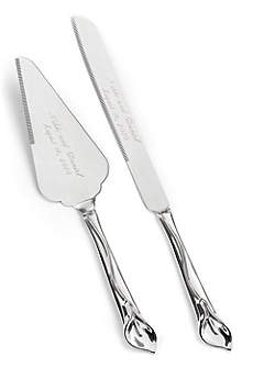 Personalized Gleaming Calla Lily Serving Set