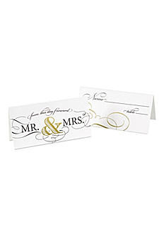 Golden Elegance Place Cards Pack of 25 DBK34438
