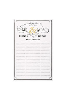 Personalized Golden Elegance Guest Book Poster DBK34448P