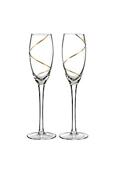 Personalized Gold Swirl Toasting Flutes DBK4723P