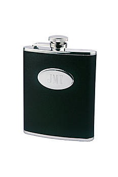 Personalized Leather Flask DBK706P