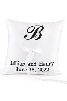 DB Exc Personalized Monogram Ring Bearer Pillow DBKX37888P