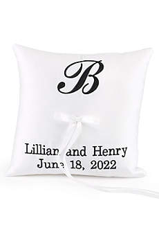 DB Exc Personalized Monogram Ring Bearer Pillow