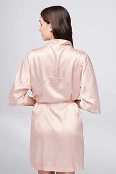 Rhinestone Maid of Honor Satin Robe