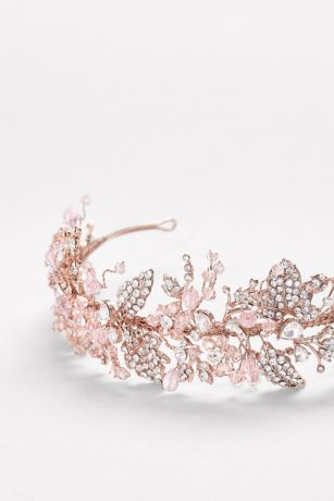 Blooming Vine Rose Gold Headband David S Bridal
