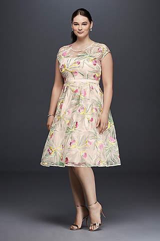Short plus size wedding dresses davids bridal short a line vintage wedding dress harlyn junglespirit Choice Image