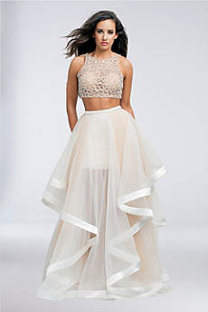 Long Ballgown Halter Formal Dresses Dress - Terani Couture