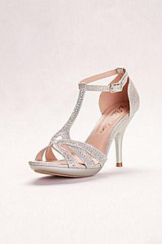 Glitter Embellished High Heel Sandals DLIN145