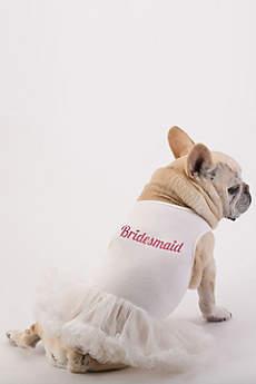 Bridesmaid Glitter Script Dog Dress
