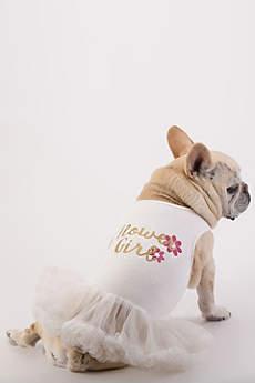 Flower Girl Glitter Script Dog Dress