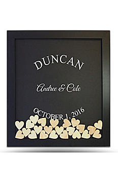 Pers Arched Name Drop Heart Guest Book Frame DRPFRMARC