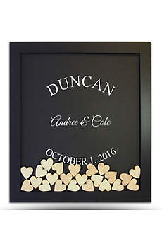 Pers Arched Name Drop Heart Guest Book Frame