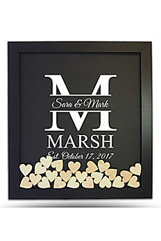 Pers Family Initial Drop Heart Guest Book Frame DRPFRMVI