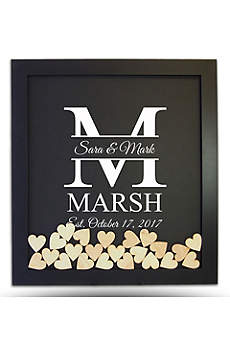 Pers Family Initial Drop Heart Guest Book Frame