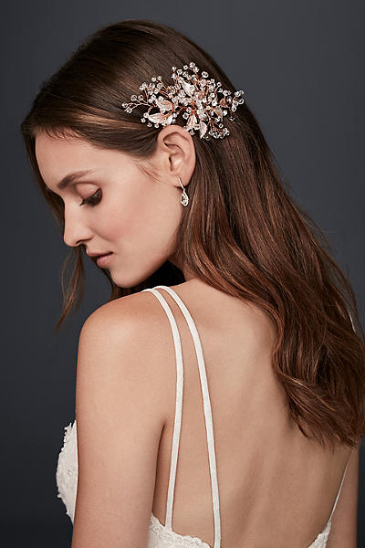 Crystal Berry Branch Hair Clip DS102