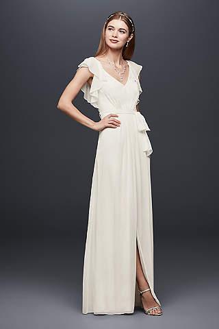 Chiffon Wedding Dresses   Davids Bridal