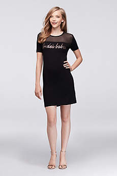 Bride's Babes Slinky Jersey Mini Dress