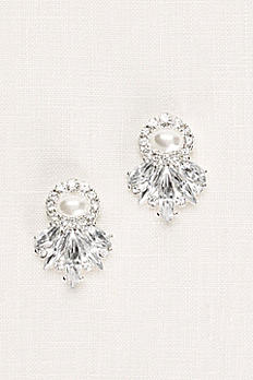 Art Deco Crystal and Pearl Earrings E15080101