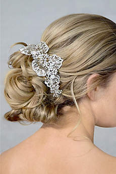 Crystal Double Headband with Side Flower Detail