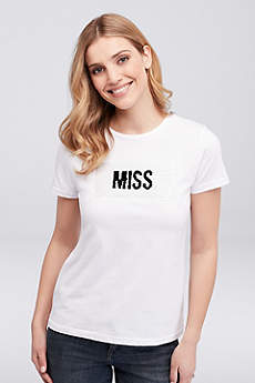 Miss to Mrs. Flip Sequin Tee
