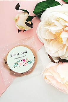 Personalized Floral Garden Round Labels