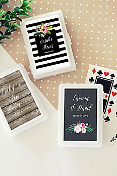 Personalized Floral Garden Playing Cards EB2033GDN