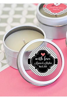 Personalized Theme Round Candle Tins EB2084Z