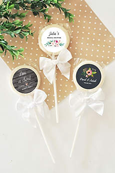 Personalized Floral Garden Lollipops