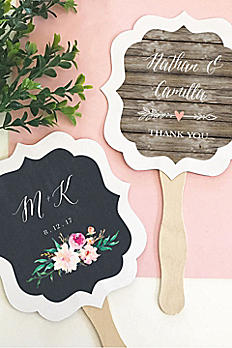 Personalized Floral Garden Paddle Fans EB2354GDN