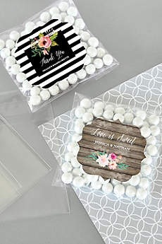 Personalized Floral Garden Candy Bags Set of 24