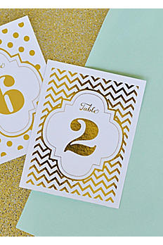 Metallic Foil Table Numbers EB3043