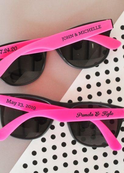 Personalized Wedding Sunglasses Davids Bridal