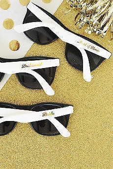 White Bridal Party Sunglasses Set of 6