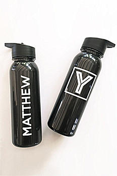 Personalized White and Black Sports Bottle EB3118B