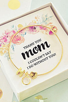 Personalized Gold Monogram Floral Mom Bracelet EB3144WC-MOM