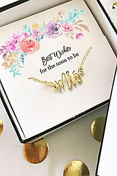 Gold Mrs Necklace EB3151MRS