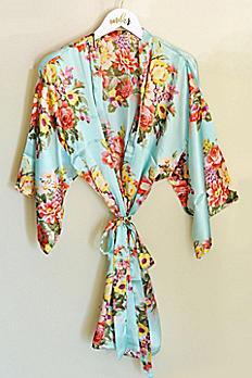 Floral Satin Robe EB3152