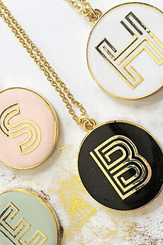 Personalized Gold Monongram Necklace