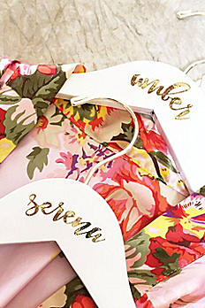 Personalized Flower Girl White Wooden Hanger EB3170