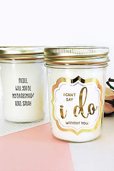 Personalized Wedding Mason Jar Candle