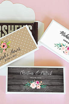 Personalized Floral Garden Candy Wrapper Covers